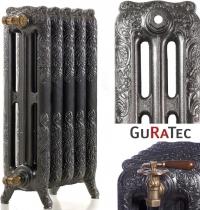 Чугунные радиаторы Guratec Apollo 765, цвет Antikschwarz (античный чёрный)
