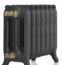 Чугунные радиаторы Guratec Apollo 350, цвет Mattschwarz (матовый черный)