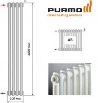 2180 AB вертикальные радиаторы Purmo с боковым подключением