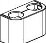 1015896 Декоративная крышка для проходных и угловых узлов